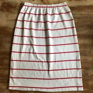 Vintage High Waist Striped Skirt